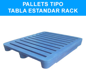 Pallets tipo Tabla Estandard Rack
